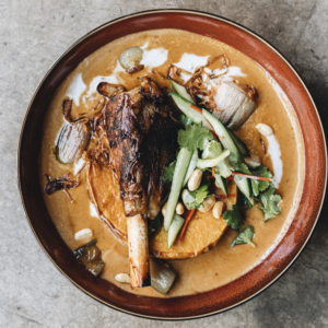 Massaman Curry of lamb with Roast pumpkin and peanuts