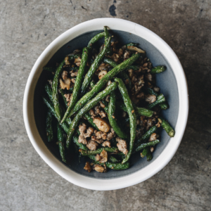 Sichuan style dry green beans with pork and