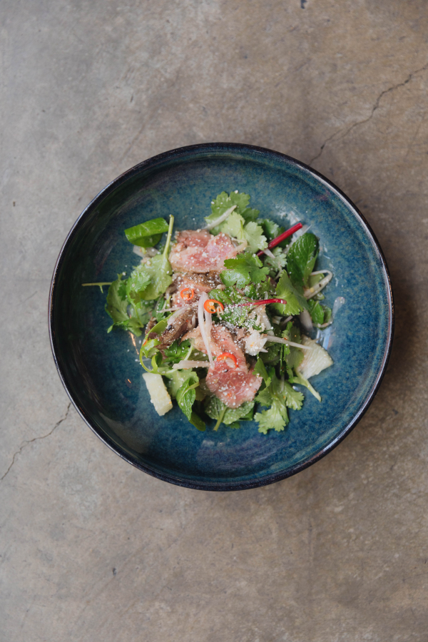 Thai style Beef salad with pomelo